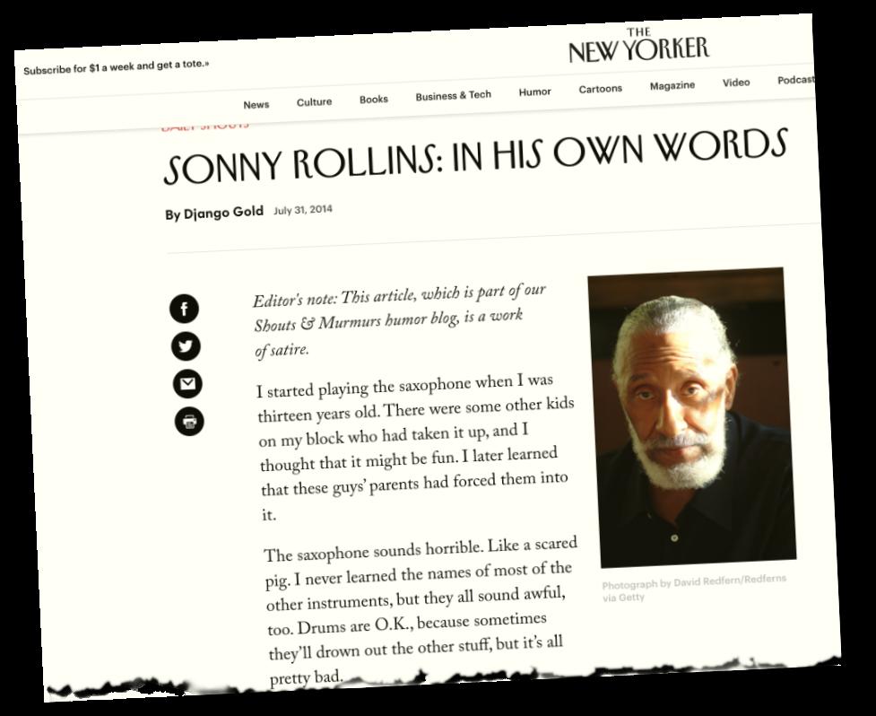 SonnyRollinsSatireNewYorker